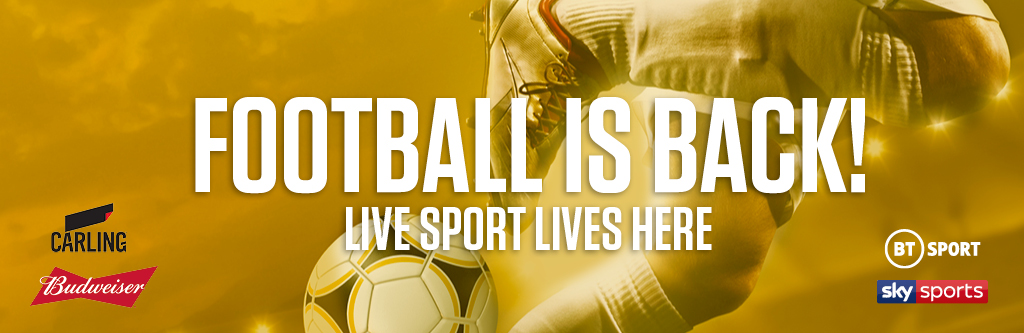 Watch live football at The Horseshoe Bar