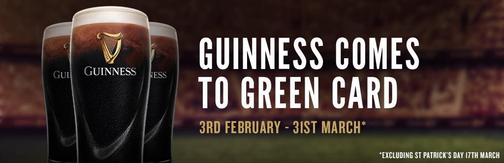 Guinness comes to green card